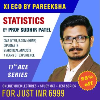 11 CBSE Economics Statistics Online Video Lectures by Prof Sudhir Patel Pareeksha Academy on LectureKart