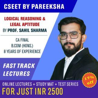 ICSI CSEET Logical Reasoning Legal Aptitude VIDEO CLASSES by Pareeksha Commerce Academy LectureKart