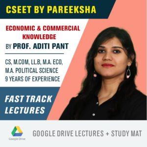 ICSI CSEET Economic and Commercial Knowledge aka ECK FastTrack Video Classes by Pareeksha Commerce Academy