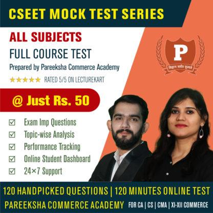 CSEET Full Course Mock Test 2 by Pareeksha on LectureKart